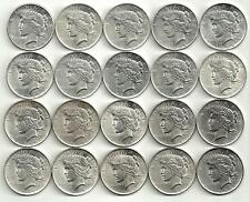 1 Roll__Peace XF-BU Silver Dollars__10 1922-P__8 1923-P__ 2 1923-S__#1025KK20