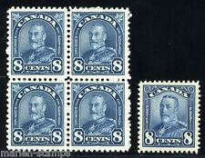 CANADA GEORGE V SCOTT#171 LOT OF 5   STAMPS  MINT NEVER HINGED
