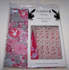 Playboy Bunny Logo Pink Printed PVC Shower Curtain New