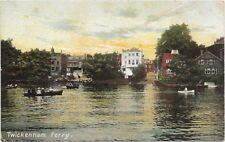 London Richmond on Thames Twickenham postcard   Twickenham Ferry C1910
