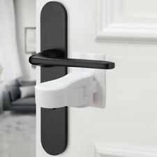 5x Door Lever Lock Home Kids Safety Door Handle Locks Baby Anti-open Happy