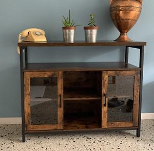 Vintage Industrial Sideboard Rustic Display Cabinet Large Metal Storage Unit