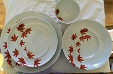 Mikasa Pure Red Porcelain Dinnerware; cup, soup bowl, salad plate & dinner plate