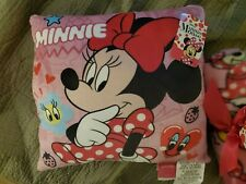Minnie Mouse Pillow and Travel Blanket, NWT