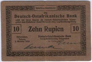 German East Africa 10 Rupien 1915 KM#38 RARITÄT, II-