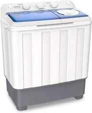 Portable Compact Mini Washing Machine 26.4 lbs Twin Tub w/ Drain Pump Semi-Auto