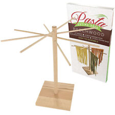 Wooden Pasta Drying Rack Unfinished Perfect For Spaghetti Linguini Noodle