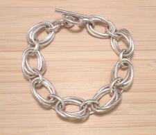 Sterling Silver Triple Link Cable Chain Bracelet ~ 31.1 grams ~ 12-C898
