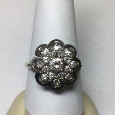 beautiful vintage 14kt white gold diamond ring size 9.5-9.75