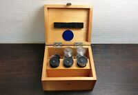 Vintage Ziele für Mikroskop linse LOMO Holzkiste UdSSR Sowjet D
