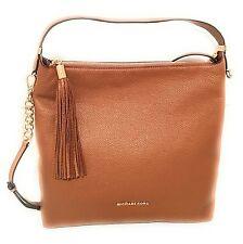 Michael Kors BEDFORD Large Tassel Top Zip Shoulder Bag Hobo Acorn Brown Nwt $328