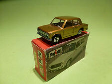POLISTIL RJ14 FIAT 124  - GOLD METALLIC - 1:60? - VERY GOOD CONDITION IN BOX