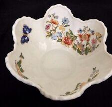 "Aynsley  English Fine Bone China ""Cottage Garden"" Scalloped Bowl Retired"
