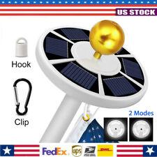 42 Led Super Bright Solar Powered Flag Pole Night Light Downlight Waterproof Us
