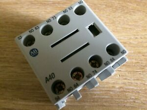 Allen Bradley 100-FA40  Auxiliary Contact New