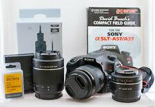 Sony SLT-A57 16.1 MP Digital SLR Camera with 3 lenses and extras, see descriptio