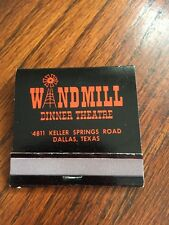 Front Strike Matchbook Windmill  Theatre  Dallas Texas  Awesome Find