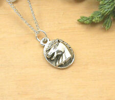 HORSE EQUESTRIAN JEWELLERY - PEWTER HORSE NECKLACE