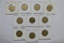 BELGIUM 5 FRANCS 10 DIFFERENT COINS LOT A99 H1