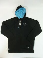 All Blacks New Zealand 2015 London Rugby World Cup Hoodie Jumper Adidas AIG L