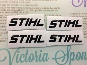STIHL STICKERS CHAINSAW DECALS X 4 BLACK CHAINSAW