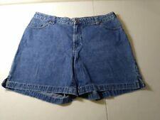 "Faded Glory Women 16W High-rise Side Slit Denim Jeans Shorts 36"" Waist"