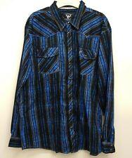 Cowboy Hardwear Embroidered Shirt Pearl Button Cowboy Shirt Mens XX-Large