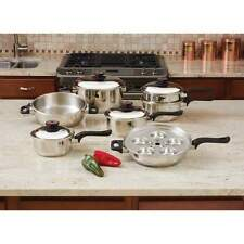 Waterless Stainless Cookware Maxam Pro 17 piece 7-Ply Stainless Steel Set