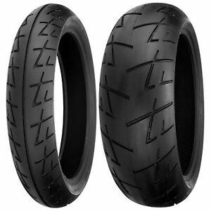 New Shinko 120/60ZR17 & 180/55ZR17 009 Raven Radial Sport Bike Tire Set