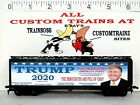 HO CUSTOM LETTERED TRUMP. DEMOCRATS ARE FULL OF CRAP COLLECTIBLE REEFER  LOT F