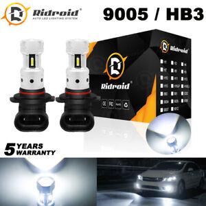 9005 LED Headlight Bulbs HB3 High Beam 6000K Cool White Halogen Replacement Kit