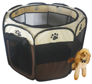 Portable Puppy or Dog Play Pen Foldable Ideal for Whelping box Camping Travel