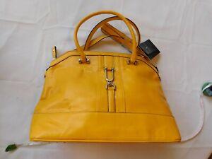 London Fog Yellow Removeable Crossbody Purse Hand Bag Satchel Style # LFP6058