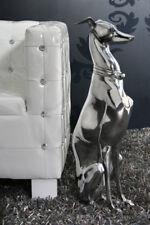 Skulptur Figur Statue WINDHUND 70cm Design Alu Aluminium  Hund Greyhound Dog