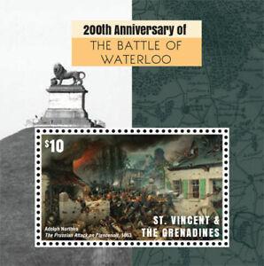 St. Vincent 2015 - Battle of Waterloo 200th Anniversary - Souvenir Sheet - MNH