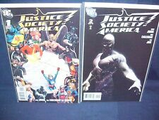 Justice Society of America #1 and #2 (2007) Nm with Bag and Board Dc Comics