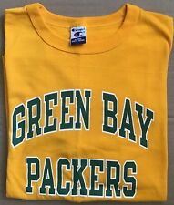 GREEN BAY PACKERS T Shirt Champion Yellow Size XL EXCELLENT CONDITION