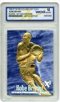 KOBE BRYANT 1996-97 EX-2000 LTD ED. BLUE WCG GEMMT 10 23KT GOLD ROOKIE CARD