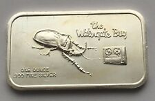 THE WATERGATE BUG SILVER .999 FINE 1 OUNCE BAR