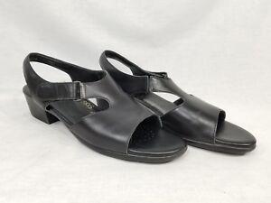 SAS Suntimer Black Sandals Womens Size 9.5 S Narrow