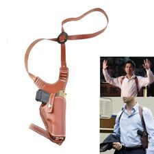 Right Hand Vertical Shoulder Genuine Leather Holster for Glock