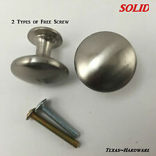 Brushed Satin Nickel Kitchen Cabinet Hardware Knobs SOLID Heavy