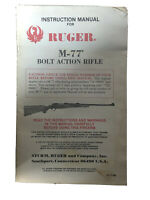 VTG 1988 RUGER Instructions & Parts List - FOR: M-77 Bolt  Action Rifle