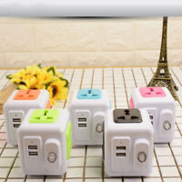 Smart Home PowerCube Socket 4 Outlets 2 USB Ports Adapter Power Multi Switched