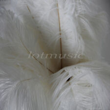 10 Pcs White Natural Ostrich Feathers For Wedding Decorations 12~14 inch Length