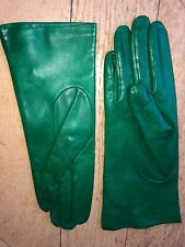 HVD Ruk Gants Femme Taille 7 1/2 (S) Cuir Agneau Vert Émeraude