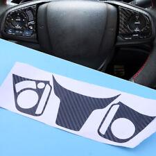 Carbon Fiber color Sticker Steering Wheel Decoration Fit For Honda Civic 2016-17