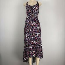 0ae9fe7c746 Spence Black Floral Print Maxi Stretch Dress Size XL NWOT