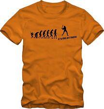 Evolution Baseball Sport Shirt  T-Shirt -  verschiedene Farben DTG Druck