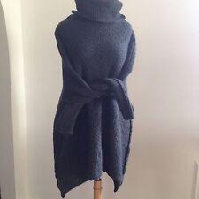 DANIEL ANDRESEN Belgium $1.8K Hand Knit Minimalist Oversized Sweater M OS